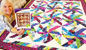 Jelly Roll Tradewinds Quilt With Donna Jordan