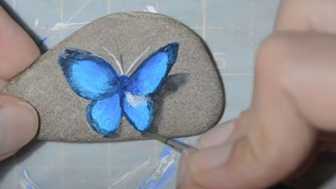 Easy DIY Butterfly Rock Painting | DIY Joy Projects and Crafts Ideas