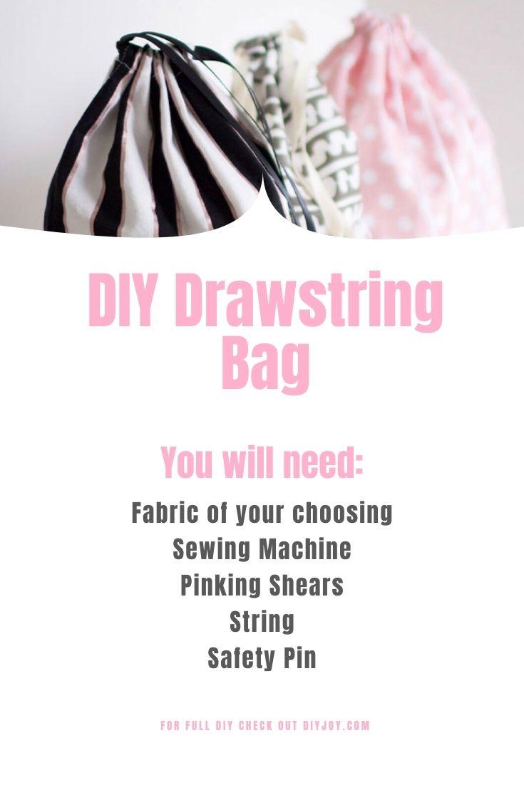 DIY Drawstring Bag - Material List
