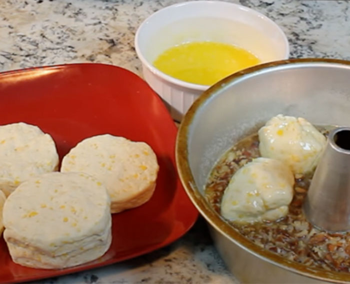 Roll Biscuits for Pecan Cream Cheese Sticky Buns - Easy Recipes