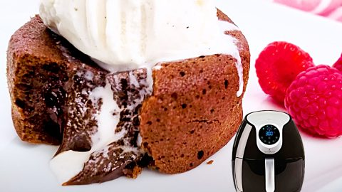 Air Fryer Chocolate Lava Cake Recipe | DIY Joy Projects and Crafts Ideas