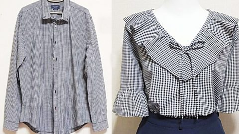 How To Make A Blouse From A Man's Shirt | DIY Joy Projects and Crafts Ideas