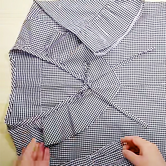 How To Make a Man's Shirt Into A Blouse - Easy Sewing Project - Recycling Sewing Project