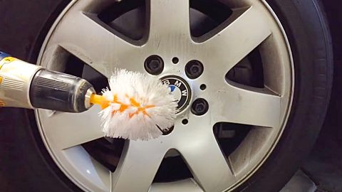 How To Clean Rims With A Toilet Brush And A Drill | DIY Joy Projects and Crafts Ideas