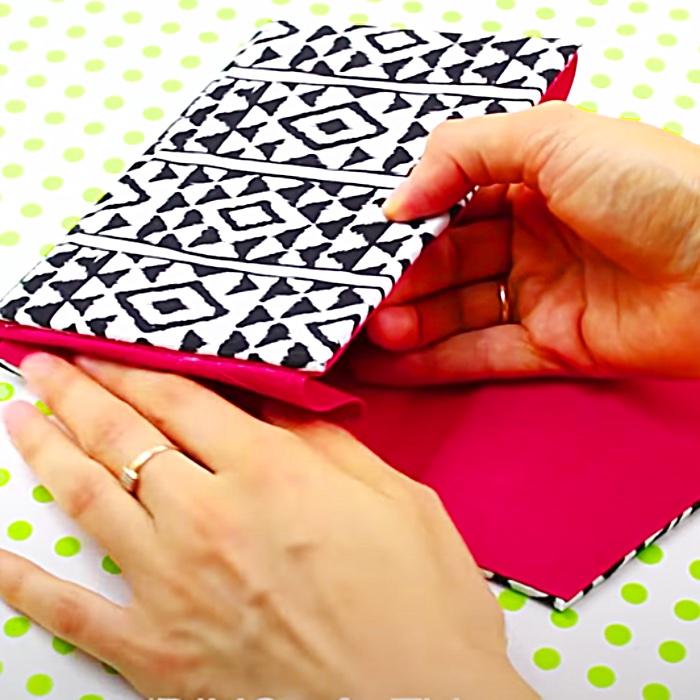 DIY No Sew Clutch Bag - DIY Fashion - How To Make A Clutch Bag