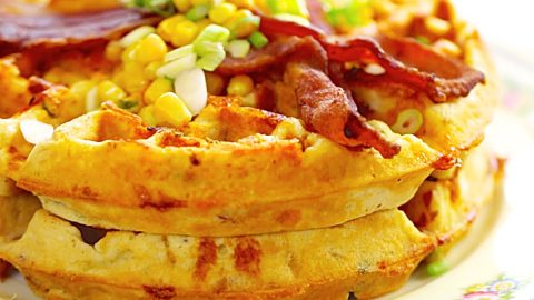 Bacon And Cheddar Cornbread Waffles Recipe | DIY Joy Projects and Crafts Ideas