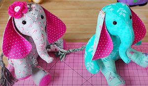 How To Make A Patchwork Elephant With Free Pattern