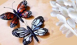 How To Make Butterflies From Plastic Spoons