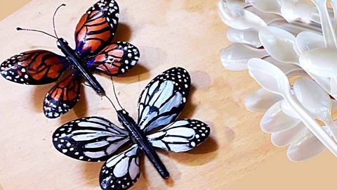How To Make Butterflies From Plastic Spoons | DIY Joy Projects and Crafts Ideas