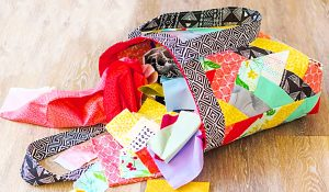 How To Make A Jelly Roll Quilted Tote Bag