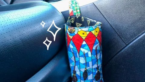 How to Sew A Car Trash Can   DIY Joy Projects and Crafts Ideas