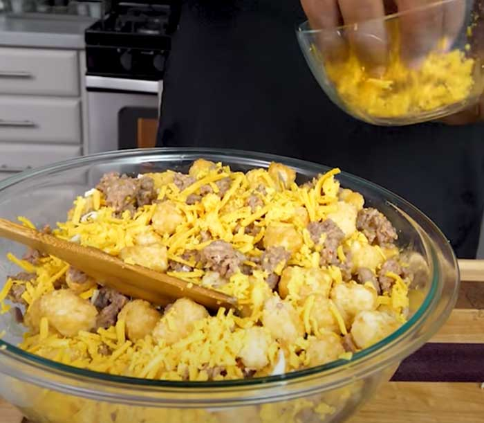 Cheesy Tater Tots - Breakfast Casserole