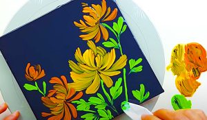 How To Paint Chrysanthemums Using Tissue Paper