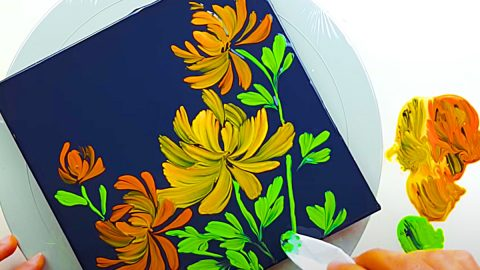 How To Paint Chrysanthemums Using Tissue Paper | DIY Joy Projects and Crafts Ideas