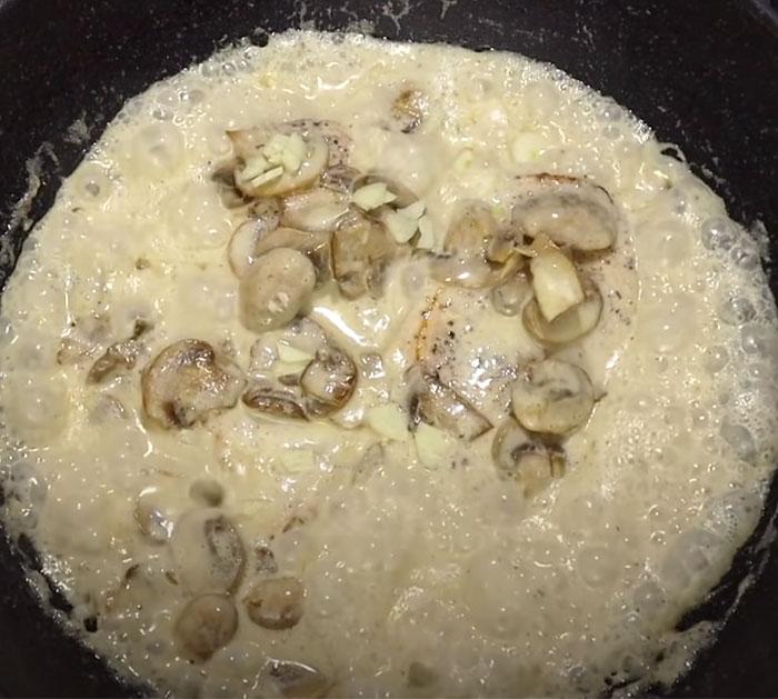Creamy Mushroom Sauce Over Chicken - Easy Chicken Dinner