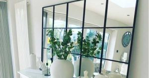 DIY Large Grid Mirror