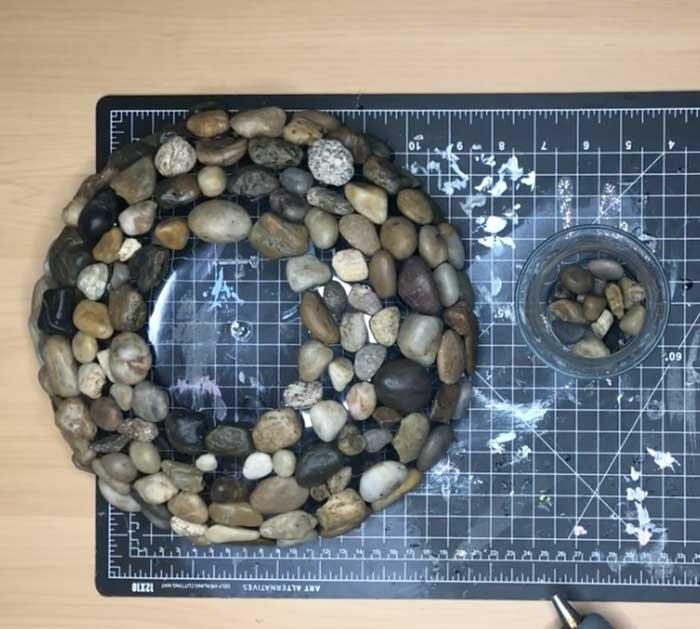 Attach Vase To Bird Bath - Easy Garden Decor