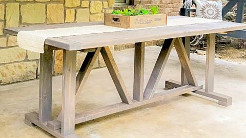 DIY $60 Outdoor Dining Table With Free Plans   DIY Joy Projects and Crafts Ideas