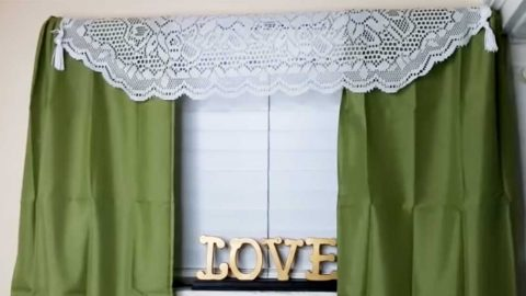DIY $1 Dollar Tree Pillowcase Curtains | DIY Joy Projects and Crafts Ideas