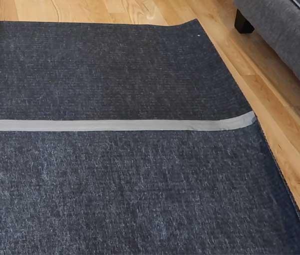 Duk Tape Carpet Mats Together For DIY Faux Fur Rug - Home Decor