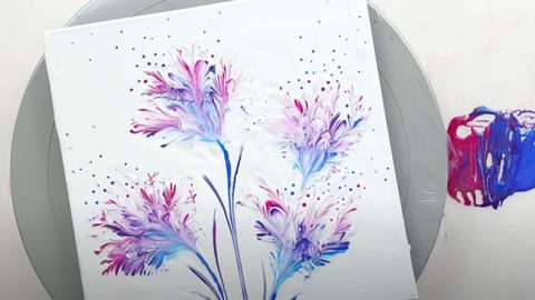 How To Paint Flowers Using A Steel Wool | DIY Joy Projects and Crafts Ideas