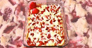 4-Ingredient Strawberry Cheesecake Dump Cake