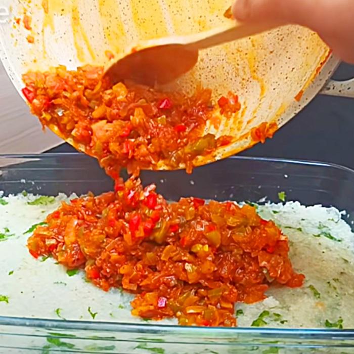 No Meat Cauliflower Casserole Recipe - Easy Vegetarian Meal Ideas - One Pan Meal Ideas