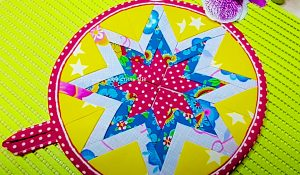 Turn Circles Into Patchwork Potholders