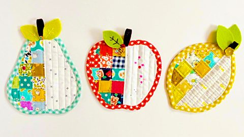 How To Sew Apple And Pear Coasters | DIY Joy Projects and Crafts Ideas