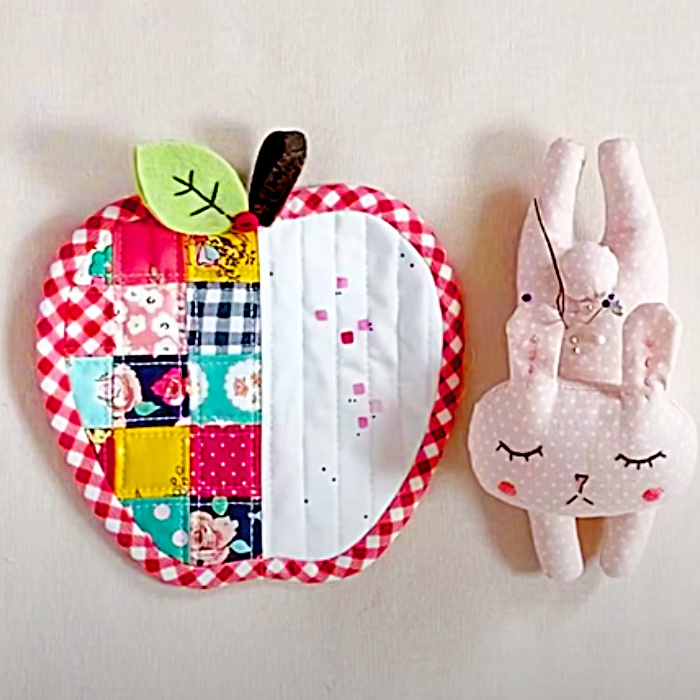 How To Make Apple And Pear Coasters - Easy Way To Make Coasters - Easy Quilting Ideas