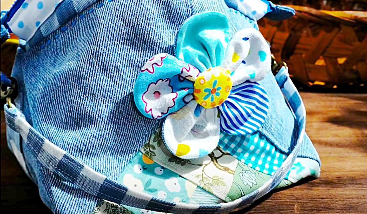 Easy Makeup Bag Idea - Scrappy Patchwork Bag - Zipper Pouch Ideas