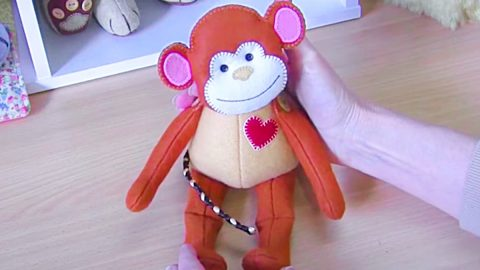 How To Make A Fabric Monkey With Free Pattern   DIY Joy Projects and Crafts Ideas