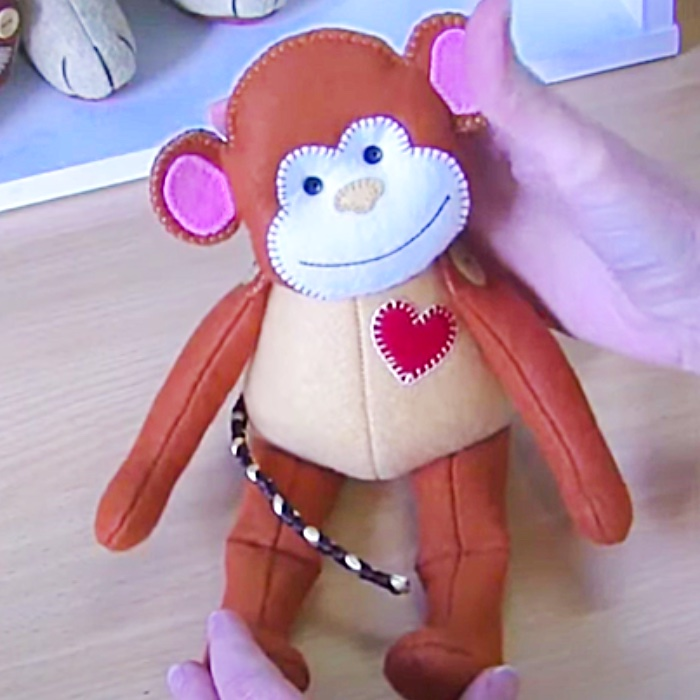How To Make A Fabric Monkey - Easy Stuffed Animal - Free Stuffed Toy Pattern