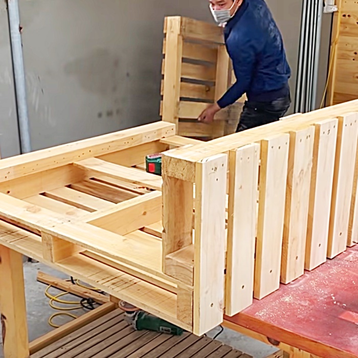 Easy Woodworking Ideas - Recycled Pallet Ideas - Recycled Pallet Bar Ideas