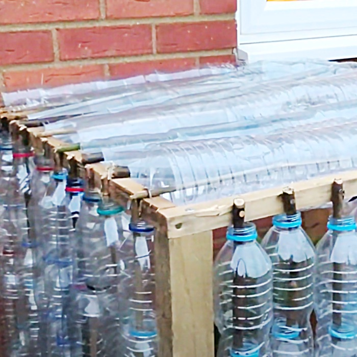 Plastic Bottle Greenhouse Idea - How To Build A Small Greenhouse - Cheap Greenhouse