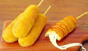 Cheese Potato Hot Dog On A Stick Recipe