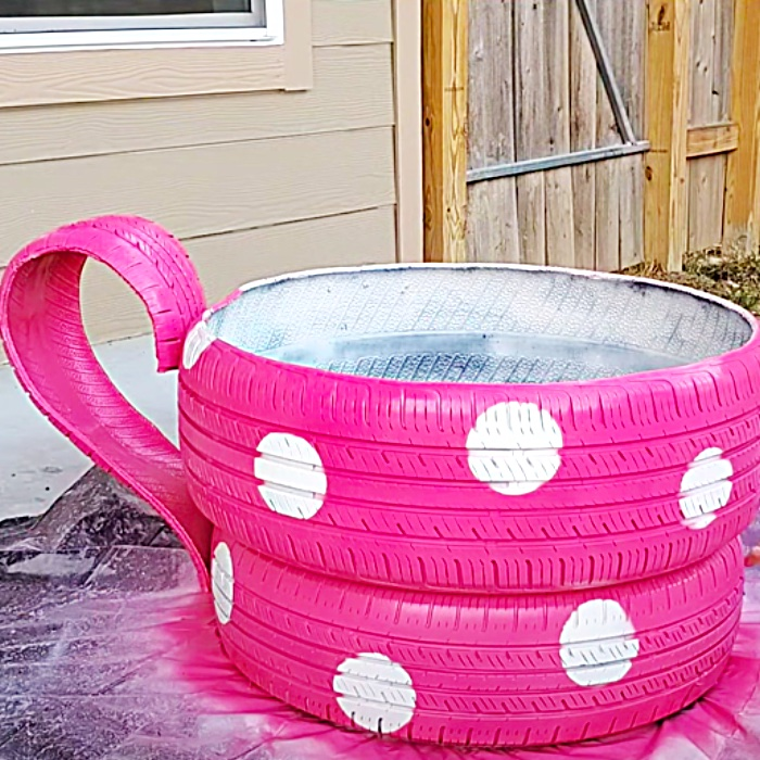 Recycling Ideas -Tire Project Ideas - How To make An Outdoor Planter
