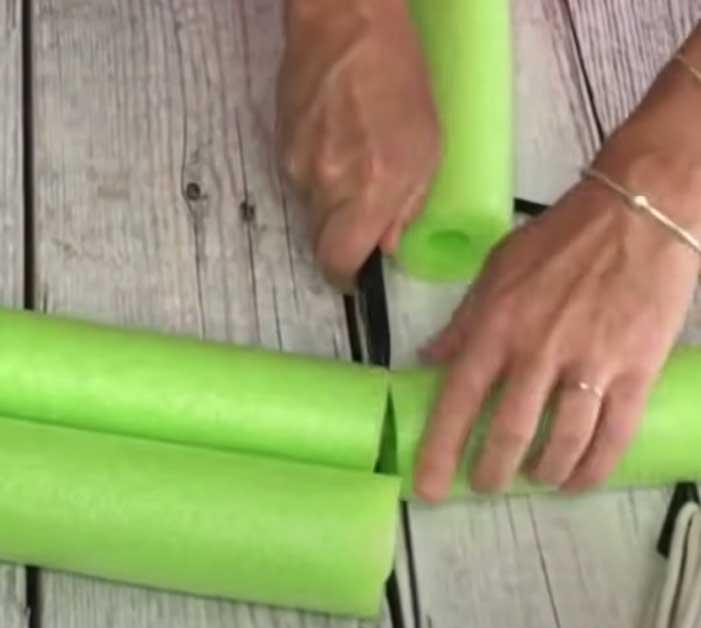 Cut Up Pool Noodles For DIY Cooler - Summer DIY