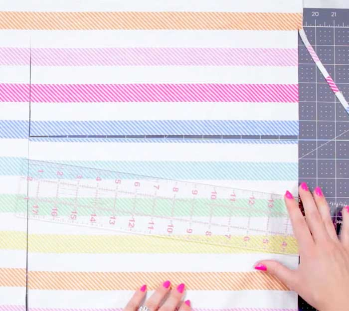 Cut Fabric For DIY Pillow Cover - Sewing Projects