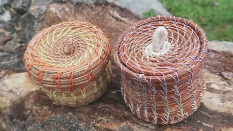 How To Make A Basket With Pine Needles | DIY Joy Projects and Crafts Ideas