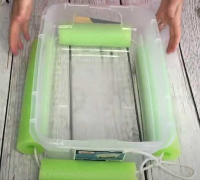 DIY Pool Noodle Cooler - Pool Noodle Cooler