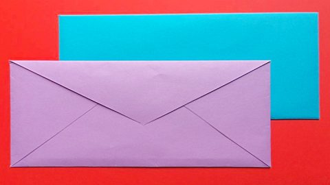 How To Make An Envelope From A Piece Of Paper   DIY Joy Projects and Crafts Ideas