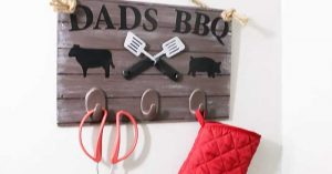 Dollar Store DIY Fathers Day Grilling Board Gift