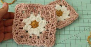 Daisy Granny Crochet Square Pattern
