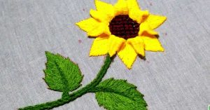 How To Hand Embroider A Sunflower