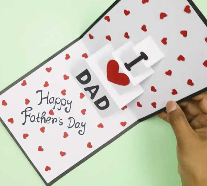 Fathers Day Card - I Love Dad