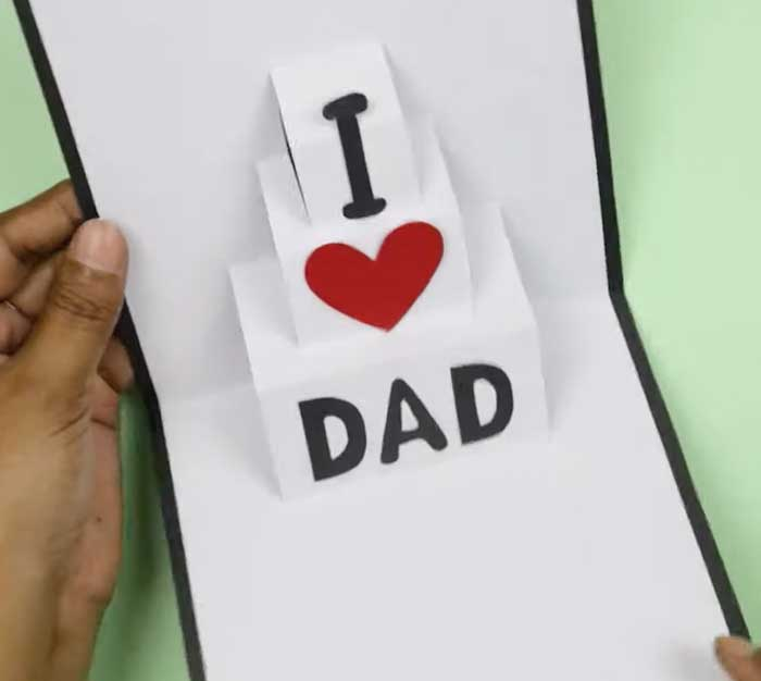 Cut Into Pop-Up Cards - Fathers Day