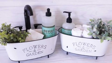 How To Make A Dollar Tree Farmhouse Wash Bucket   DIY Joy Projects and Crafts Ideas