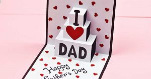 DIY Fathers Day Pop Up Card
