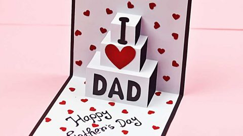 DIY Fathers Day Pop Up Card | DIY Joy Projects and Crafts Ideas